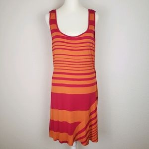 Calvin Klein stretchy striped tank sun dress